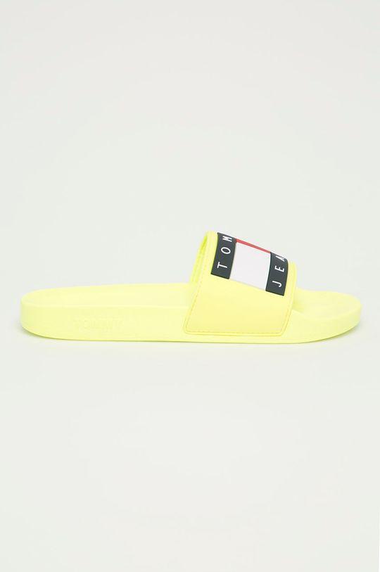 žltá Tommy Jeans - Šľapky Pánsky