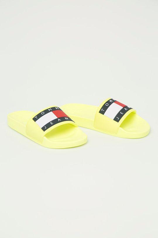 Tommy Jeans - Šľapky žltá