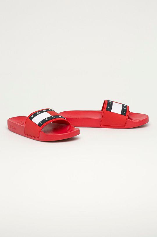 Tommy Jeans - Pantofle červená