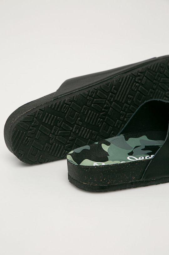 Pepe Jeans - Kožené pantofle Bio Buckles  Svršek: Přírodní kůže Vnitřek: Umělá hmota, Textilní materiál Podrážka: Umělá hmota
