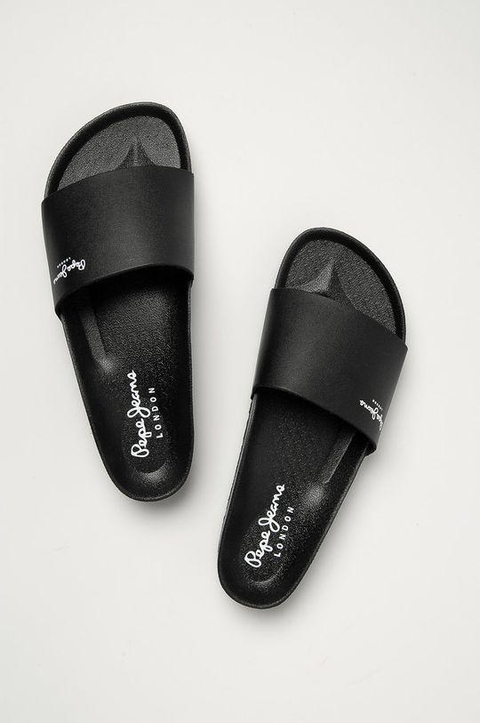 Pepe Jeans - Kožené pantofle Bio Light Vamp černá