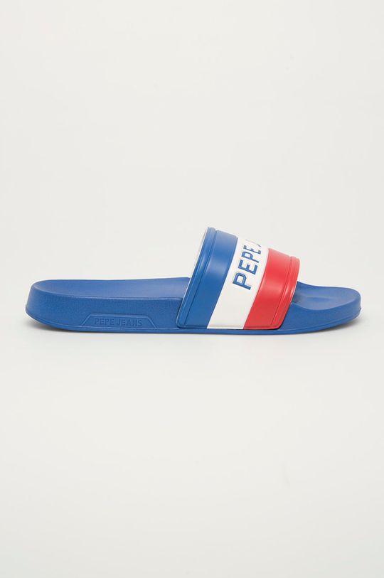 modrá Pepe Jeans - Pantofle Slider Timy Pánský