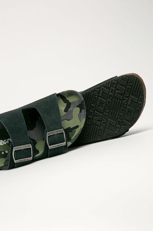 Pepe Jeans - Semišové pantofle Bio Buckless  Svršek: Semišová kůže Vnitřek: Semišová kůže Podrážka: Umělá hmota