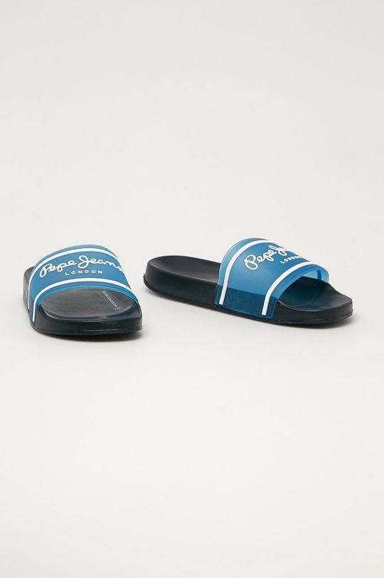 Pepe Jeans - Pantofle Translucent modrá