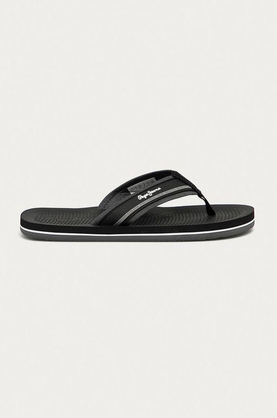 čierna Pepe Jeans - Žabky South Beach Pánsky
