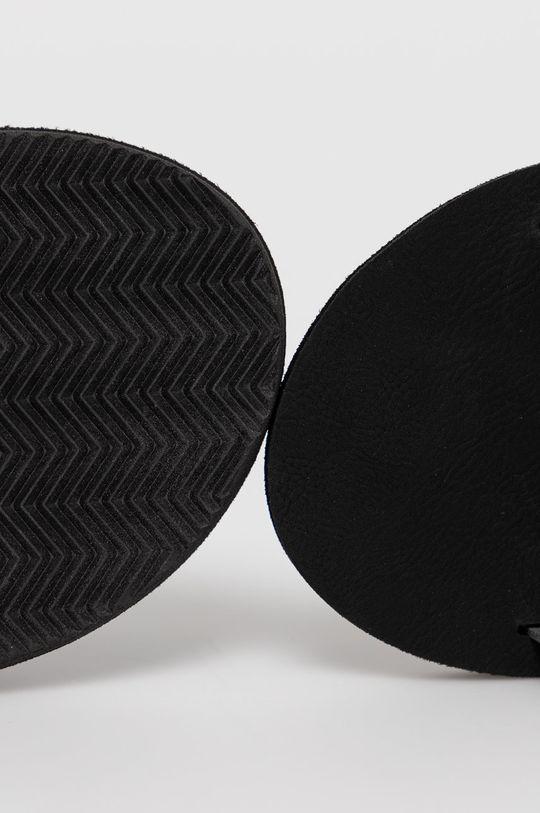 černá Jack & Jones - Kožené pantofle