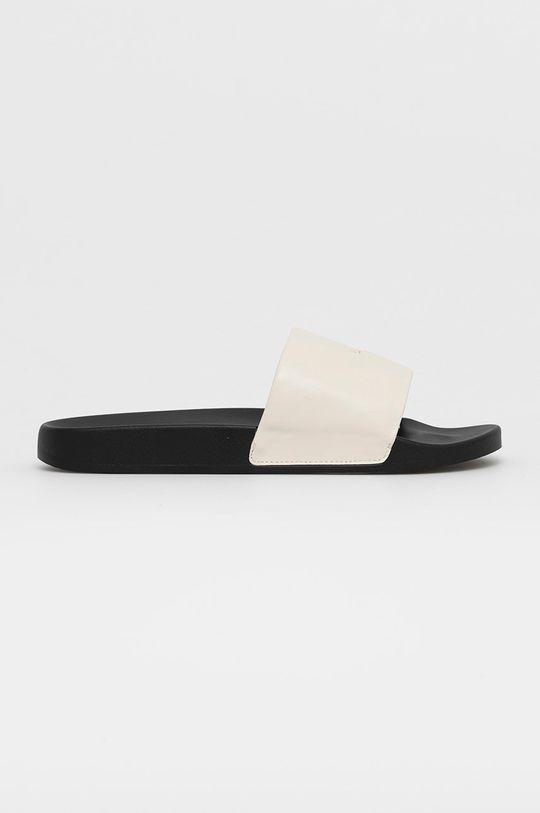 bílá AllSaints - Kožené pantofle Carmel Pánský