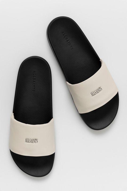 bílá AllSaints - Kožené pantofle Carmel