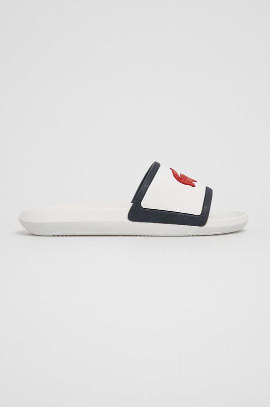 bílá Lacoste - Pantofle Pánský
