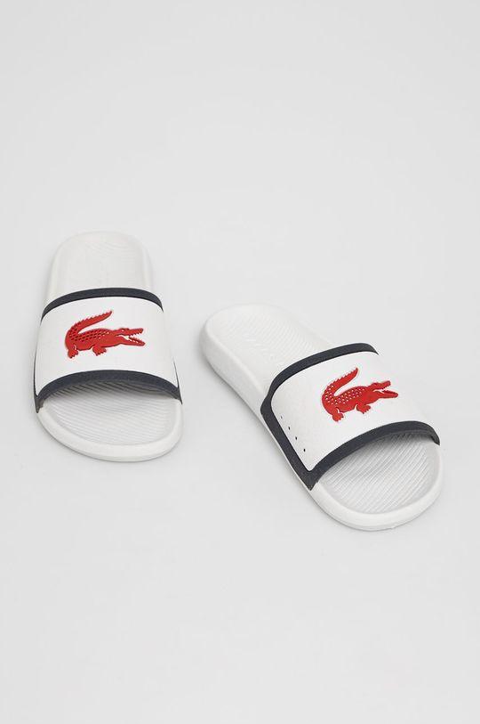 Lacoste - Pantofle bílá