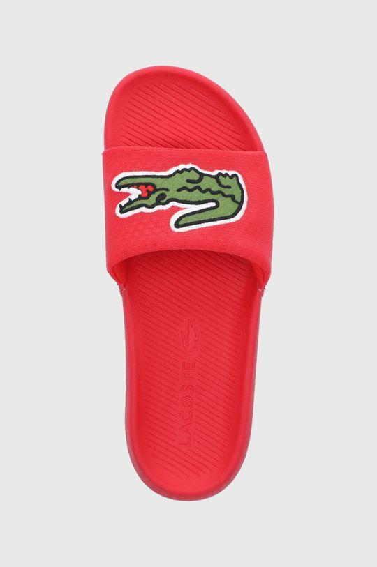 červená Lacoste - Pantofle Croco Slide