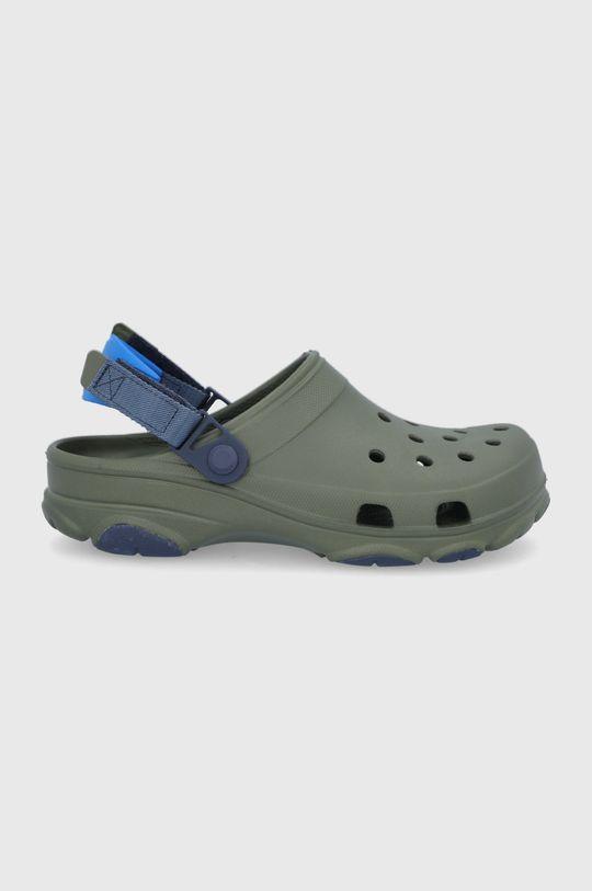 tlumená zelená Crocs - Pantofle Pánský