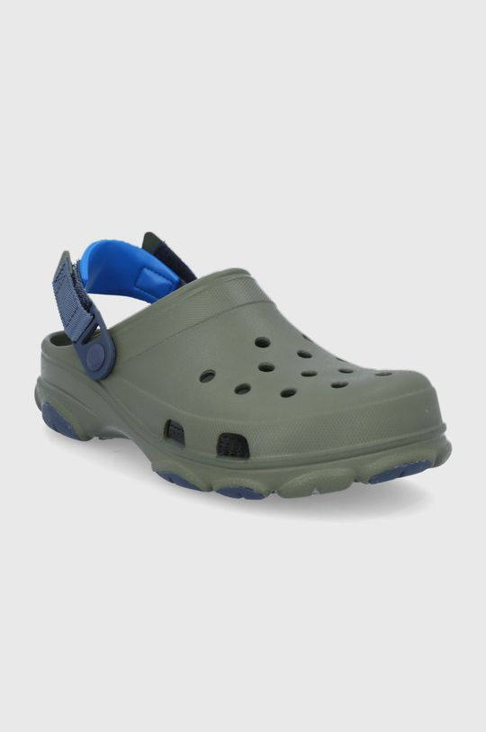 Crocs - Pantofle tlumená zelená