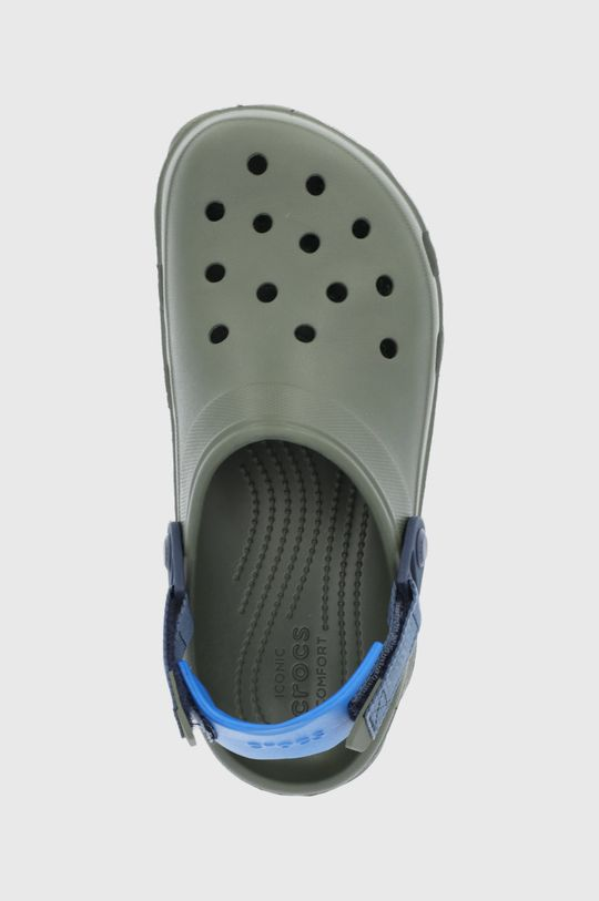 tlumená zelená Crocs - Pantofle