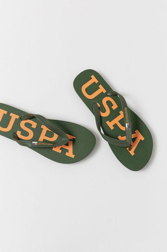 U.S. Polo Assn. - Žabky khaki