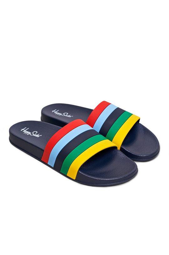 Happy Socks - Klapki Pool Slider Stripe granatowy