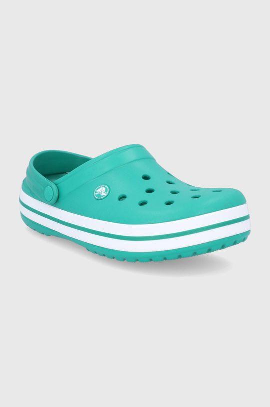 Crocs - Klapki ciemny zielony