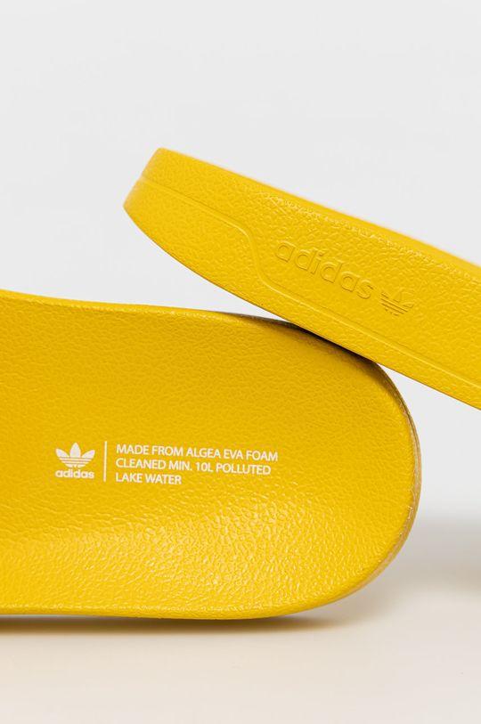żółty adidas Originals - Klapki Adilette Lite