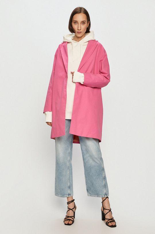 růžová Pepe Jeans - Kabát Elvira x Dua Lipa Dámský