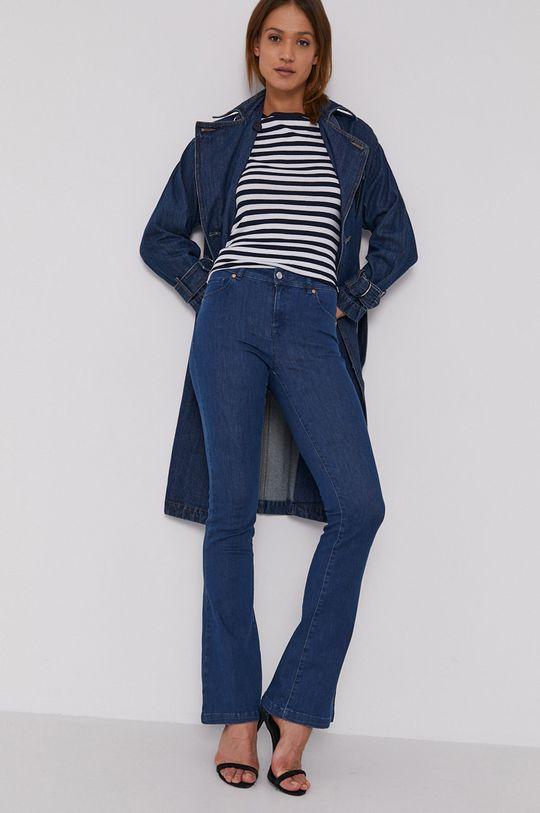 granatowy United Colors of Benetton - Płaszcz jeansowy