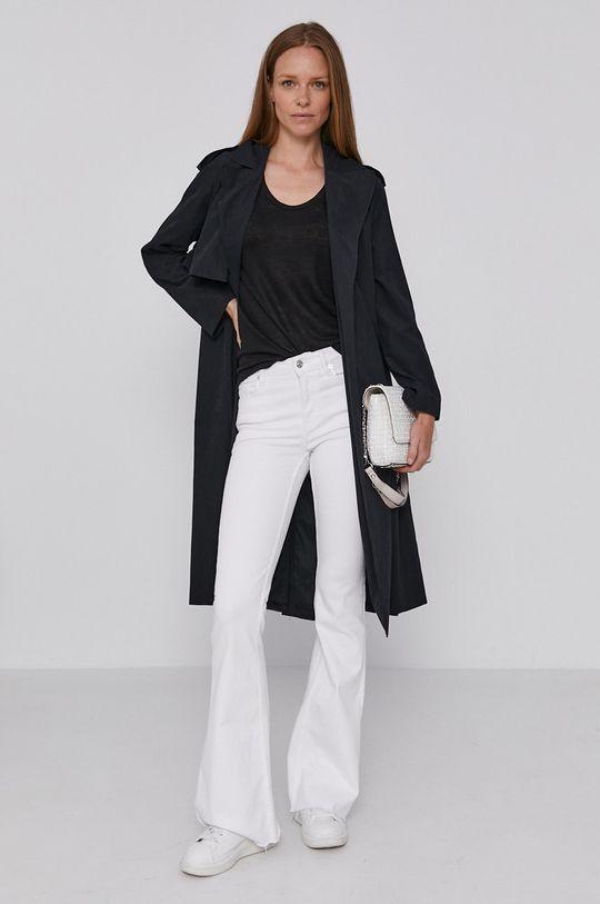 černá Sisley - Trench kabát Dámský
