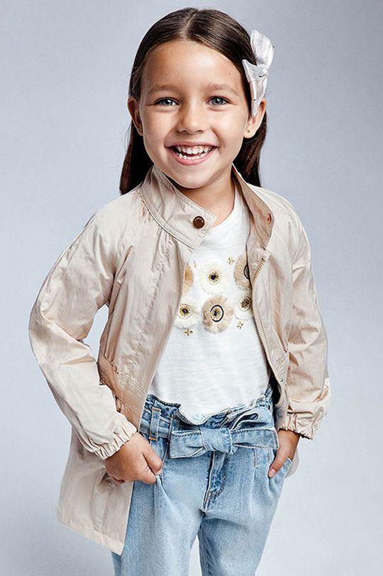 piaskowy Mayoral - Płaszcz dziecięcy Dziewczęcy