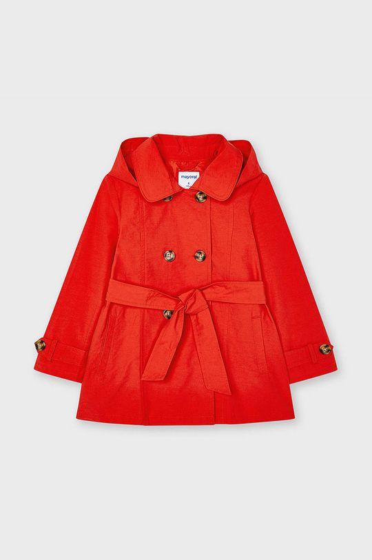 czerwony Mayoral - Trencz dziecięcy Dziewczęcy