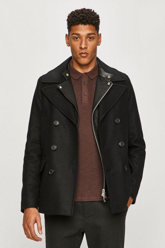 čierna AllSaints - Kabát Pánsky