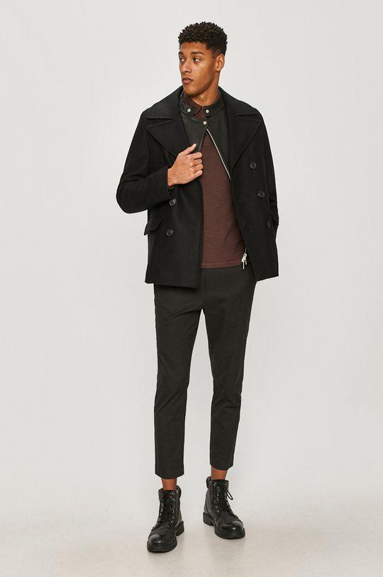 AllSaints - Kabát čierna