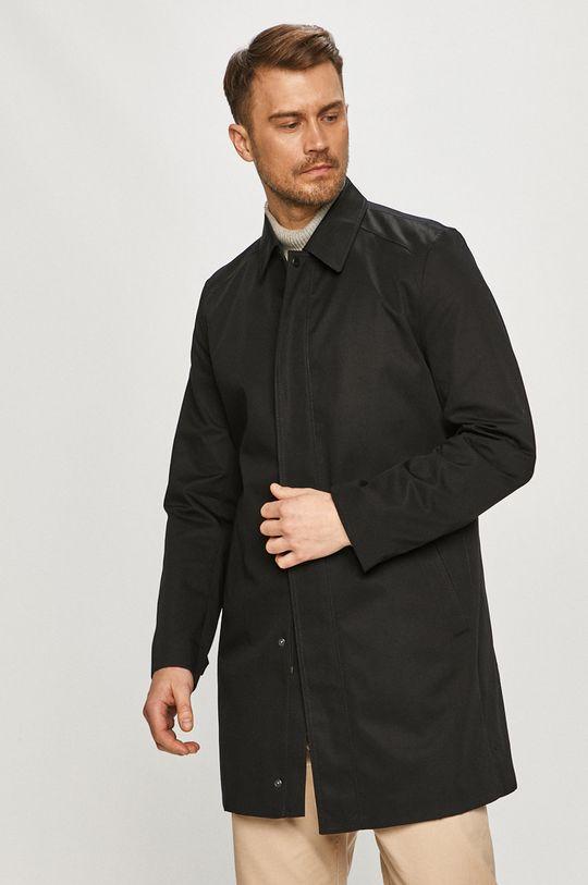 czarny Hugo - Płaszcz przeciwdeszczowy Męski