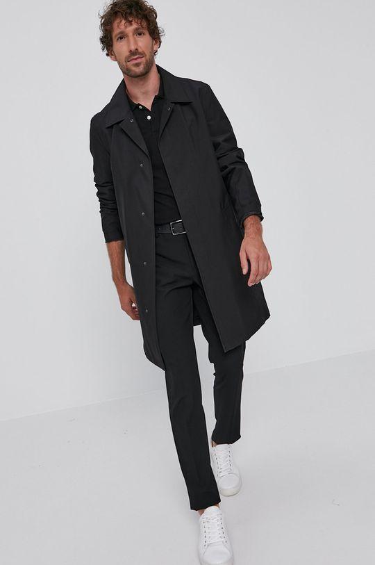 czarny Karl Lagerfeld - Płaszcz Męski