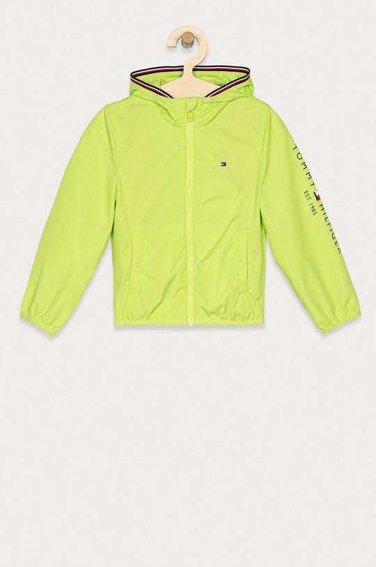 žlto-zelená Tommy Hilfiger - Detská bunda 104-176 cm Chlapčenský