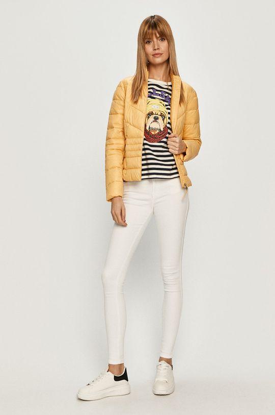 Vero Moda - Kurtka jasny żółty