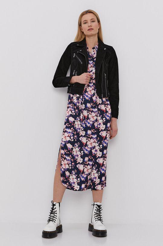 Vero Moda - Ramoneska zamszowa czarny