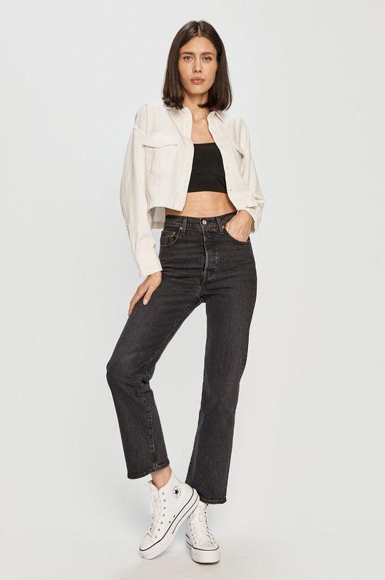 Levi's - Kurtka jeansowa biały