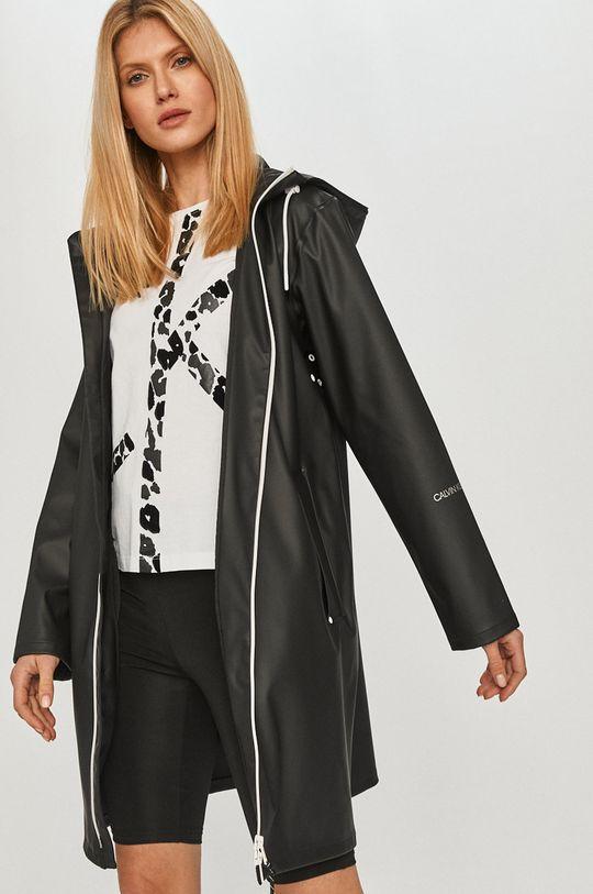 čierna Calvin Klein Jeans - Nepremokavá bunda Dámsky