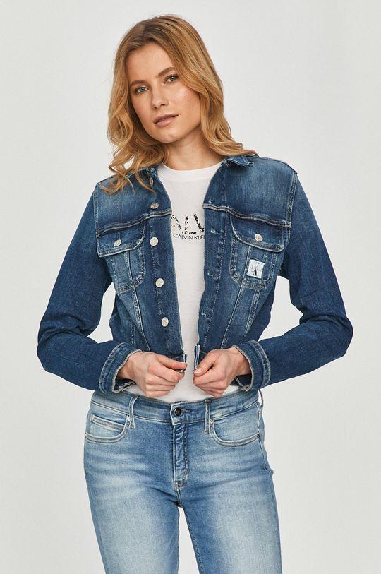 tmavomodrá Calvin Klein Jeans - Rifľová bunda Dámsky