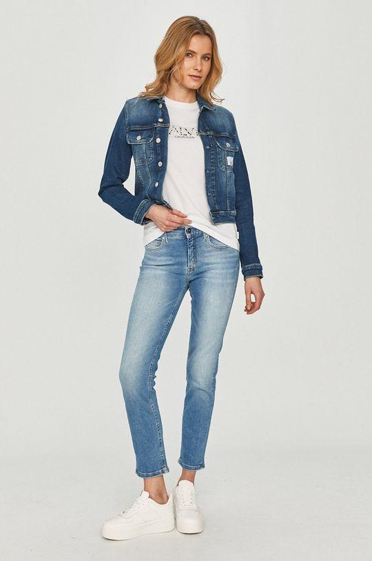 Calvin Klein Jeans - Rifľová bunda tmavomodrá