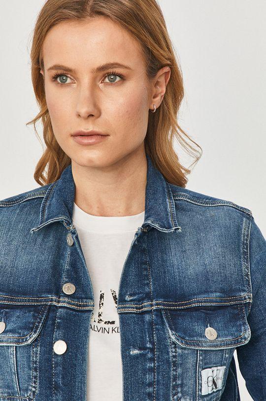 tmavomodrá Calvin Klein Jeans - Rifľová bunda