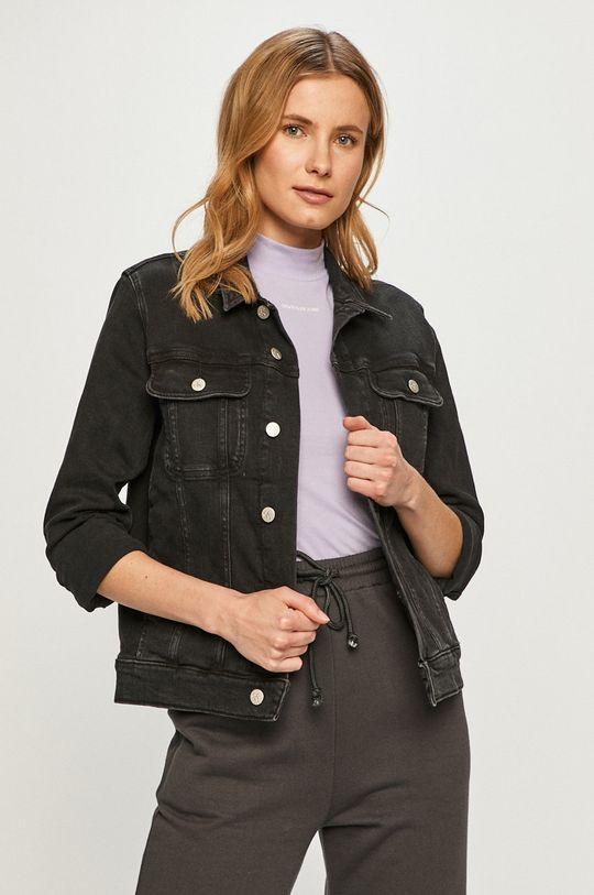 czarny Calvin Klein Jeans - Kurtka jeansowa Damski