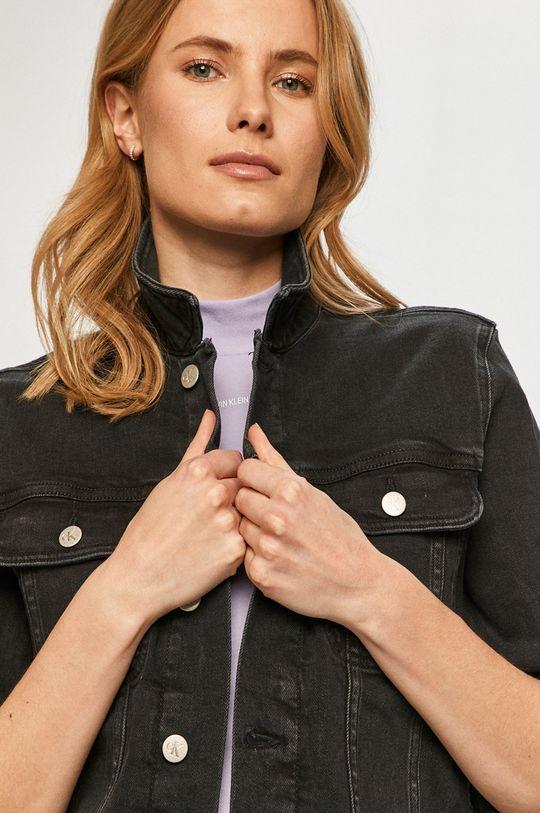 czarny Calvin Klein Jeans - Kurtka jeansowa