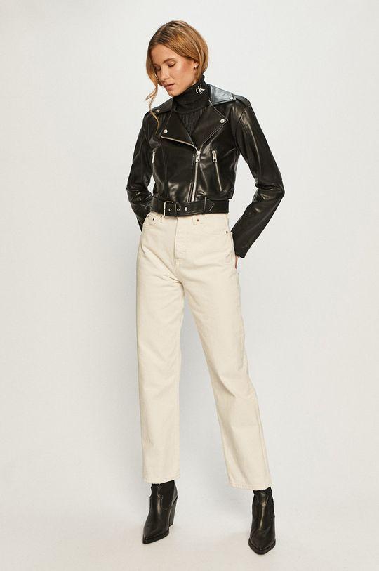 Calvin Klein Jeans - Ramoneska czarny