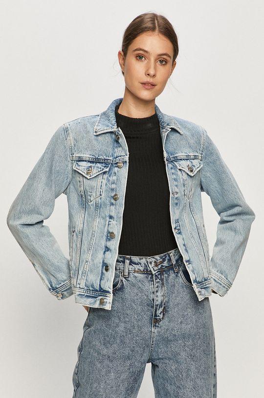 modrá Pepe Jeans - Rifľová bunda Rose Archive Dámsky