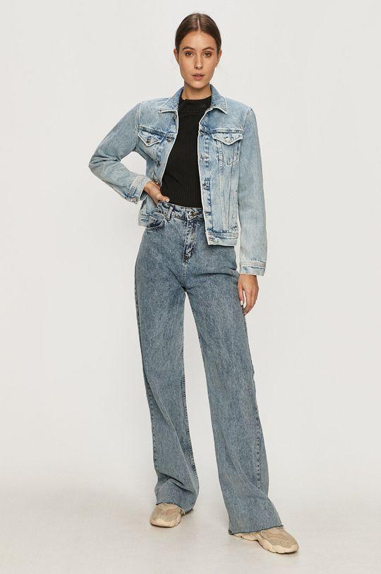 Pepe Jeans - Rifľová bunda Rose Archive modrá