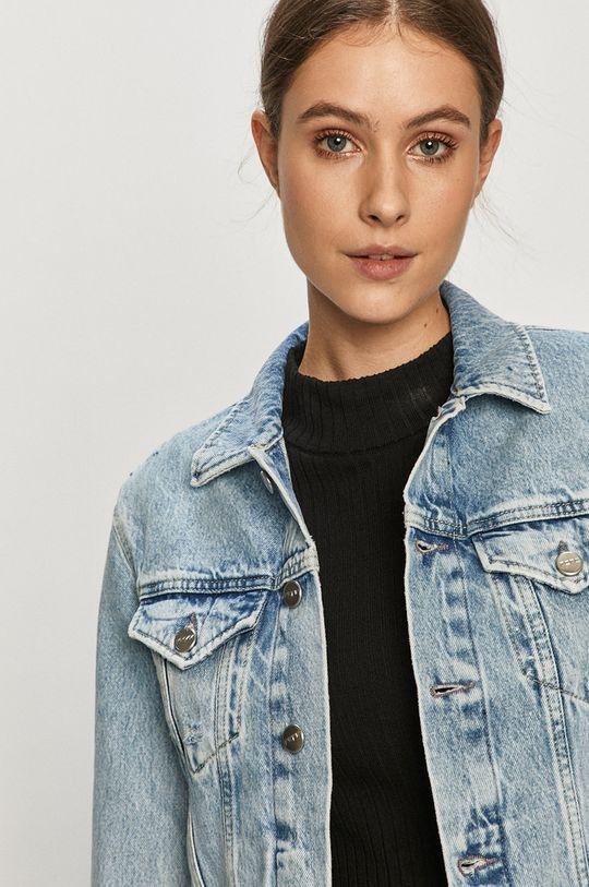 modrá Pepe Jeans - Rifľová bunda Rose Archive