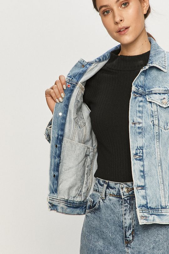 Pepe Jeans - Rifľová bunda Rose Archive
