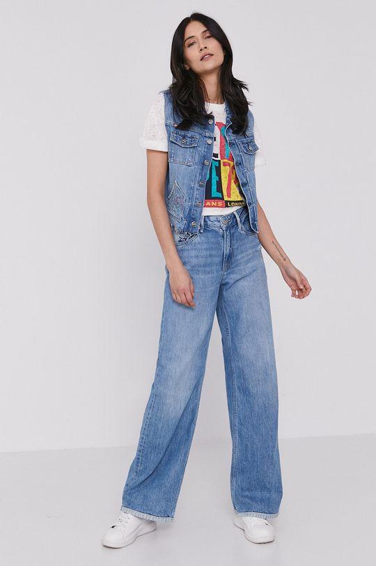 Pepe Jeans - Vesta de blugi Elsie albastru