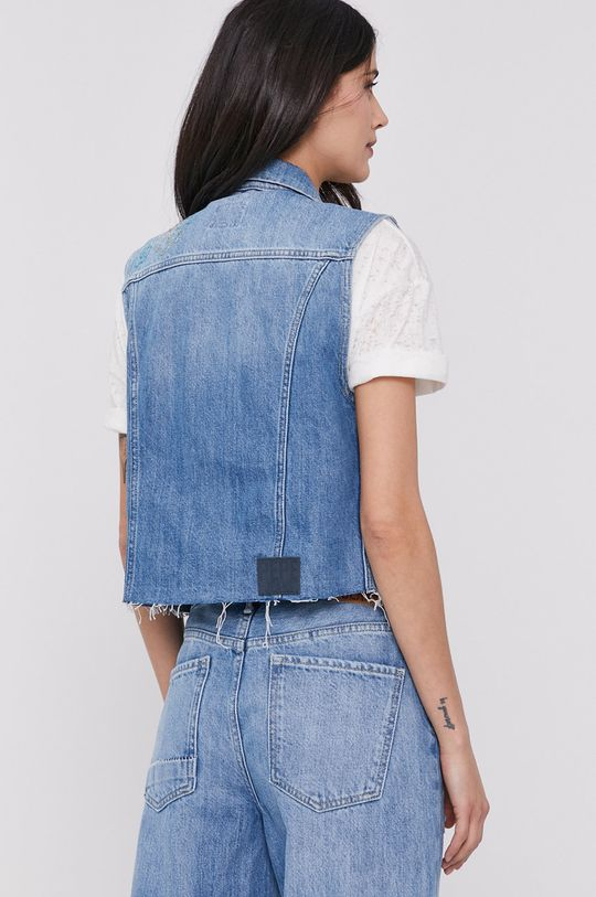 Pepe Jeans - Vesta de blugi Elsie  100% Bumbac