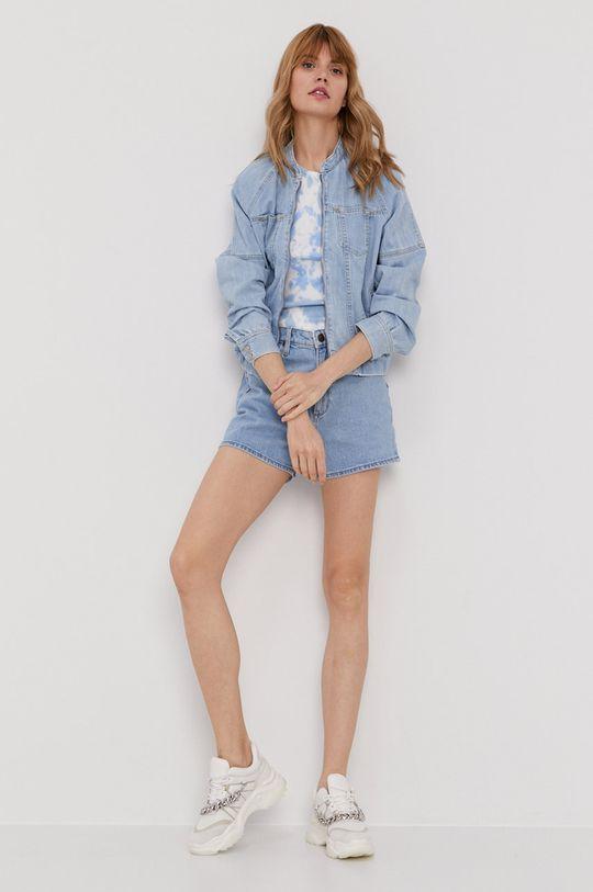 Pepe Jeans - Kurtka jeansowa Izzy Archive niebieski