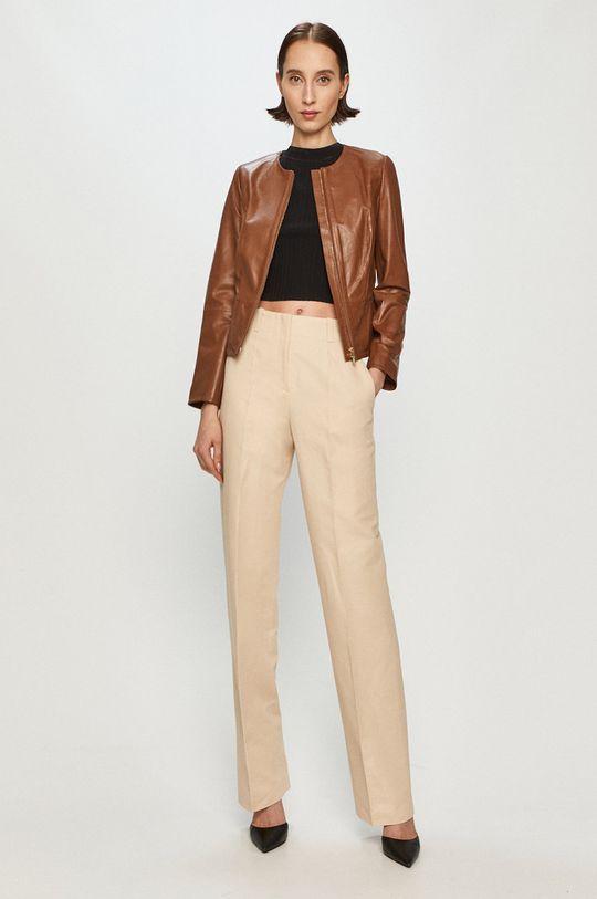 Pennyblack - Kožená bunda hnedá